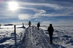 Op weg door de sneeuw
